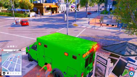 看门狗: 看我买的绿色救护车还不错吧,感觉都变样了