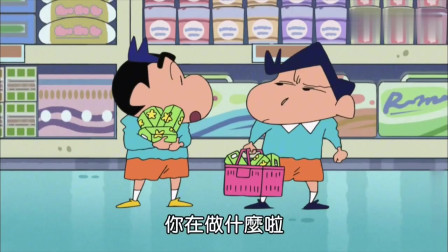 蜡笔小新:小新和风间都穿了对方的衣服,双胞胎推销卖光了热狗啊