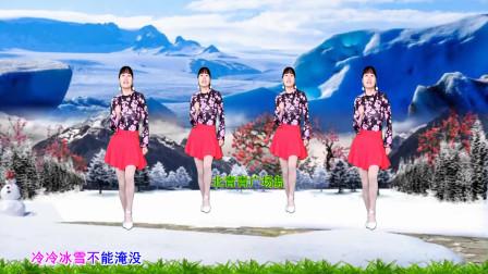河北青青广场舞《一剪梅》动感DJ64步附教学
