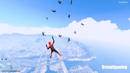 GTA5:这个调皮的蜘蛛侠又来洛圣都捣蛋啦