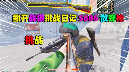 和平精英:挑战捡两把S686散弹枪吃鸡,最后却拿平底锅,送给敌人