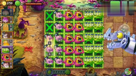 植物大战僵尸:巨兽龙遇上这三种植物,太难了!