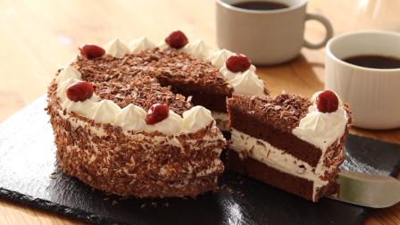 别看这个蛋糕平淡无奇,它可是世界有名的黑森林蛋糕,你吃过吗?