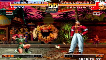 拳皇97:七枷社摔人还有新招式,在丽安娜的配合下,大佬能把你摔出屏幕