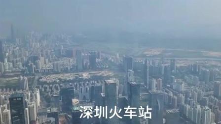 广东深圳第一高楼看香港,没想到和深圳交界处差距这么大
