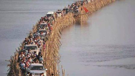 世界上最长的竹桥,一天收200万过桥费,每年都要拆建一次!