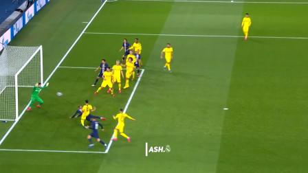 欧冠内马尔对阵多特蒙德个人集锦,鱼跃头球破门助巴黎逆转晋级!