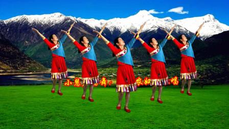 点击观看《小慧广场舞《翻身农奴把歌唱》藏舞教程含完整版口令分解》