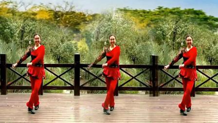 糖糖广场舞《美丽的草原我的家》水兵舞教学