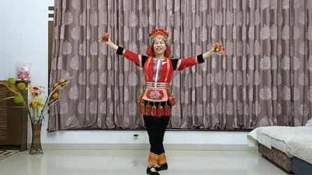 开远叶子广场舞《花腰烟盒舞》民族舞