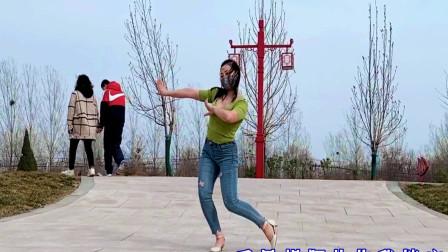 青青世界广场舞《网络一线牵》简单好看适合零基础