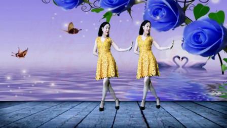 静儿广场舞《我一直在等你》优美抒情32步DJ步伐优美简单