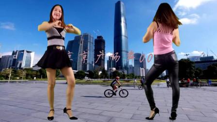 点击观看《京京广场舞《耶耶耶DJ》短裙皮裤健身操正背面 简单无基础》
