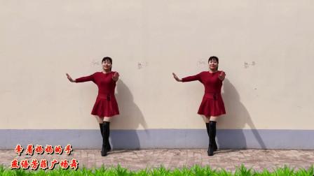 燕语芳菲广场舞《牵着妈妈的手》35岁大妈跳得很好