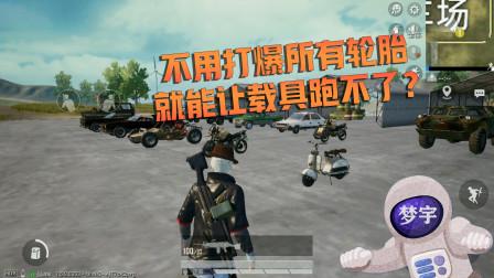 和平精英:不用打爆所有轮胎,就能让载具难以移动?