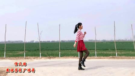 燕语芳菲广场舞《信天游》北方农村小道妇女跳健身舞 洗衣精