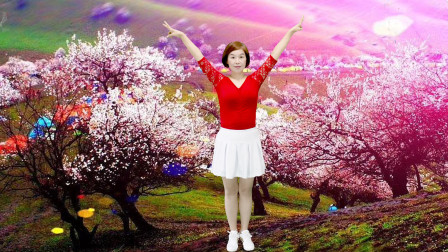 新疆花儿广场舞 我爱唱情歌 这个姐妹跳得好嗨哟
