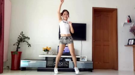京京广场舞《狂浪》短裤大美女跳起来适合初学者