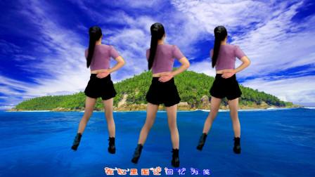 点击观看《鹤塘紫儿广场舞《情陷dj》64步背面 简单好看》