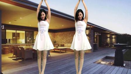 简单易学快三节拍舞蹈《窗外》还是个大美妞