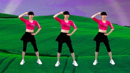 点击观看《阳光香果广场舞《听心》动感时尚有节奏大众热门健身操》