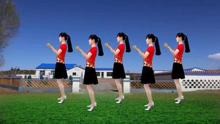 点击观看《快速入门广场舞《山不转水转》16步一分钟就会!》