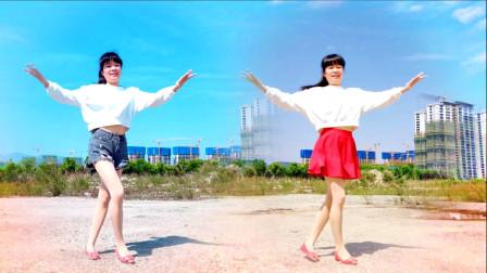 天气好美女学舞蹈 麦芽广场舞《点歌的人》