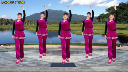 简单易学舞蹈《高山青》华美舞动广场舞动作简单易学