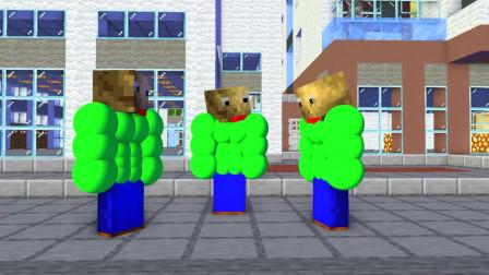 我的世界动画-怪物学院-巴迪3人健身组-Intalord