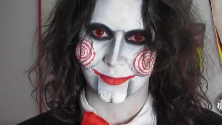 美妆秀:化妆师把女子打扮成了电锯惊魂里的那个杀人狂魔,真有才
