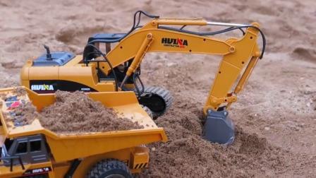 钩机工作视频表演_儿童玩具挖掘机-无痕搜哦搜索