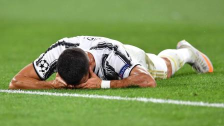 欧冠尤文图斯对阵里昂比赛集锦:C罗点球+世界波双响难救主,一人难扛萨里球队前进!