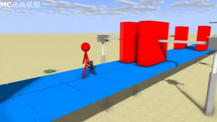 我的世界动画-怪物学院-机器人大战-PlataBush