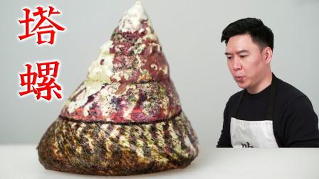 试吃很多人没见过的大马蹄螺,观赏性极高,它好不好吃呢?