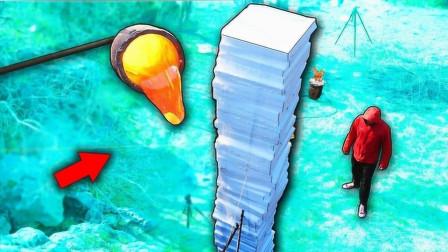用1000℃岩浆能穿透100层泡沫吗?牛人测试,结果出人意料!