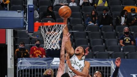 NBA:雄鹿142-133步行者 字母哥40+15+6