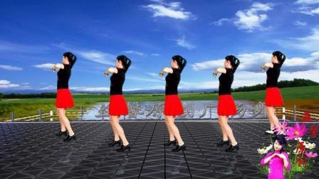 益馨广场舞 亲亲蓝 简单16步单人水兵舞
