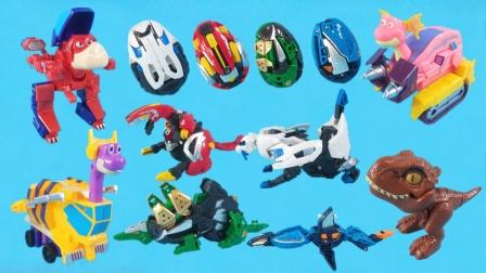 时空龙骑士发现机械恐龙蛋,可以弹射变形成霸王龙,沧龙