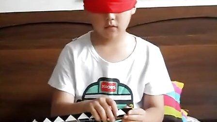 魔尺36段恐龙蛋(8岁男孩蒙眼变)
