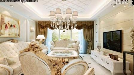 扬州华鼎星城132平三室两厅纯美欧式装修效果图-扬州