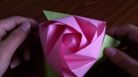 折纸玫瑰花大全视频教程 魔术玫瑰魔方玫瑰花的折法 折纸王子