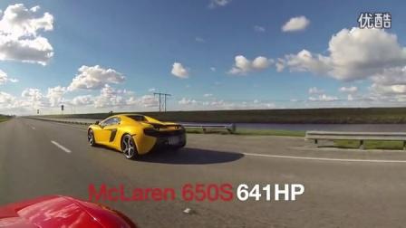 迈凯轮McLaren 650S Spider 直线加速