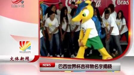 巴西世界杯吉祥物名字揭晓 晨光新视界 121128