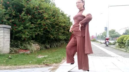 舞灵美娜子广场舞 娜娜舞之美 室外自由舞 很有气质的中年妇女