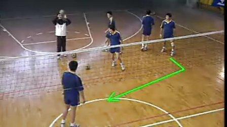 排球视频教学:34(快球掩护进攻、专位防守、立体进攻)