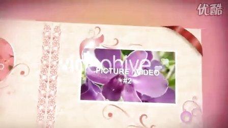 粉红色的花边图书展示图片
