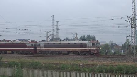 [火车][双机注意]双机SS6B货列[42021]常德幺道通过