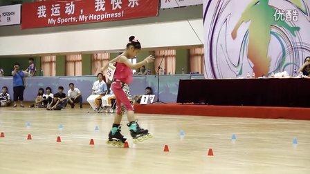 2015 全国自由式轮滑锦标赛 少儿女子 花式绕桩