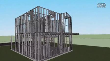 自建房轻钢别墅,轻钢结构房屋