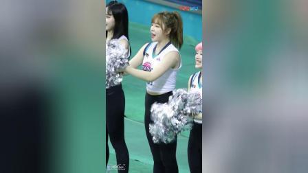 180307 韩国职业篮球联赛 啦啦队美女 이한글 加油